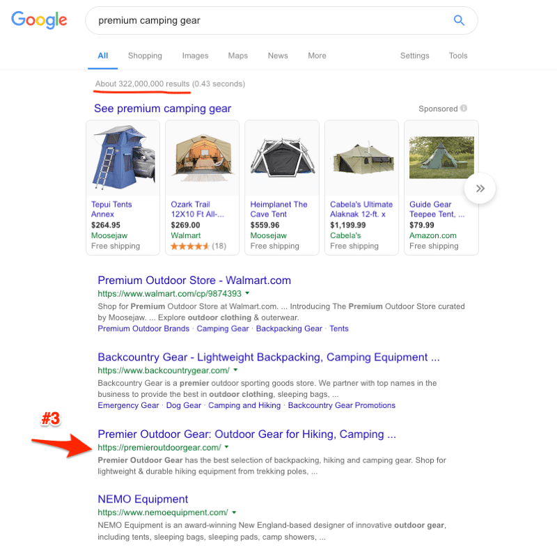 eCommerce SEO Result